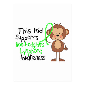 Este niño apoya conciencia del linfoma de postal