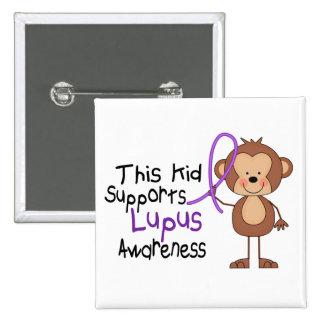 Este niño apoya conciencia del lupus pins