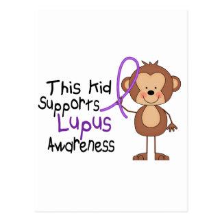 Este niño apoya conciencia del lupus tarjetas postales