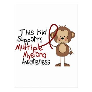 Este niño apoya conciencia del mieloma múltiple tarjeta postal