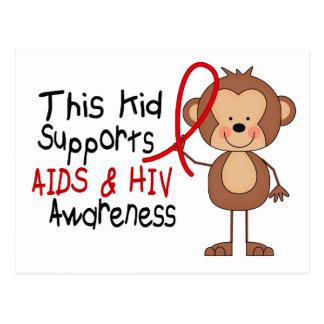 Este niño apoya conciencia del SIDA Postales