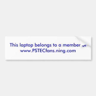 Este ordenador portátil pertenece a un miembro ofw pegatina para auto