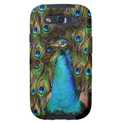¡Este pavo real le está mirando! Galaxy S3 Fundas