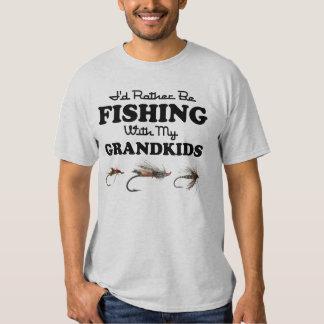 Esté pescando bastante a Grandkids Playera