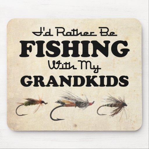 Esté pescando bastante a Grandkids Tapete De Raton