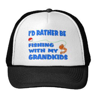 Esté pescando bastante con los Grandkids Gorras De Camionero