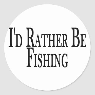 Esté pescando bastante pegatina redonda