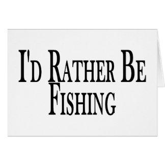Esté pescando bastante tarjeta de felicitación