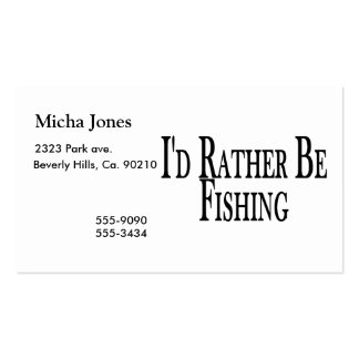 Esté pescando bastante tarjetas de visita