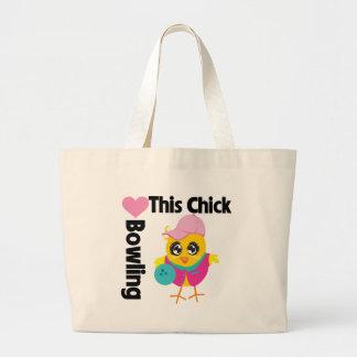 Este polluelo ama el rodar bolsa tela grande