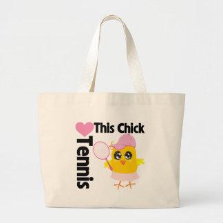 Este polluelo ama tenis bolsa tela grande