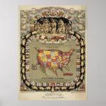 """Este Porcineograph"" (Forbes) BigMapBlog.com 1876 Posters"