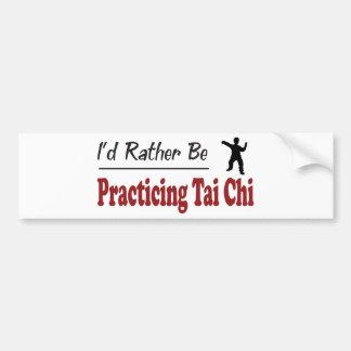 Esté practicando bastante ji del Tai Pegatina Para Auto