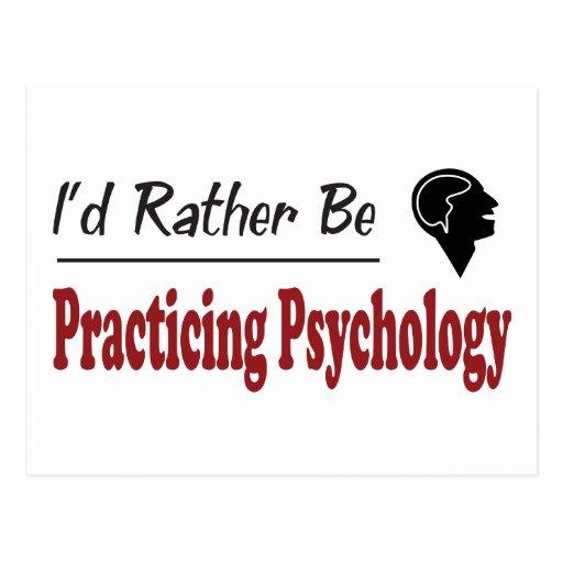 Esté practicando bastante la psicología tarjeta postal