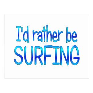 Esté practicando surf bastante postal
