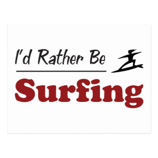 Esté practicando surf bastante tarjeta postal