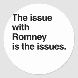 Este problema con Romney es el issues.png Pegatina Redonda