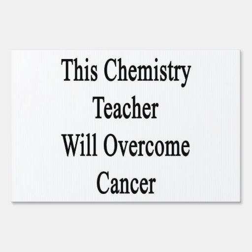 Este profesor de la química superará al cáncer