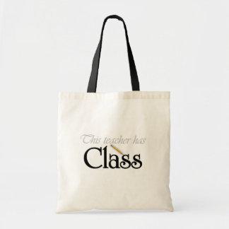 Este profesor tiene clase bolsa tela barata