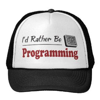 Esté programando bastante gorra