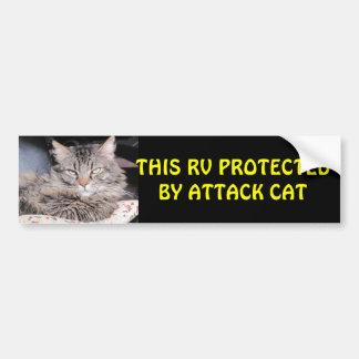 Este rv protegido por el gato del ataque pegatina para auto