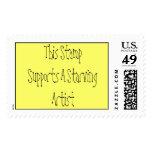 Este sello apoya a un artista muerto de hambre