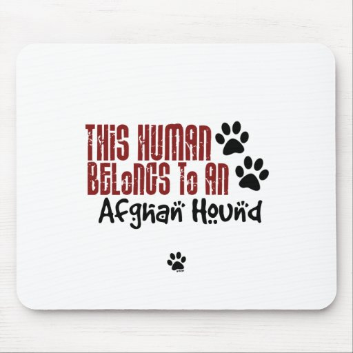 Este ser humano pertenece a un afgano mouse pad