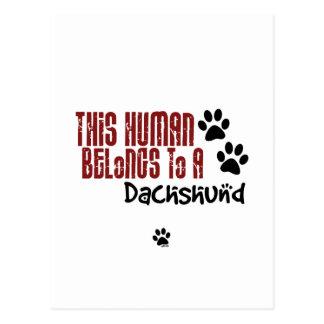Este ser humano pertenece a un Dachshund Postales