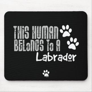Este ser humano pertenece a un Labrador Alfombrilla De Raton
