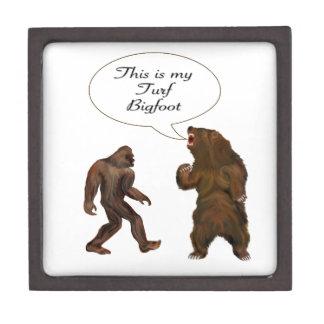 Este ser-mi césped Bigfoot y regalos de la pintura Cajas De Joyas De Calidad