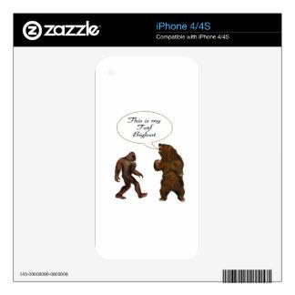 Este ser-mi césped Bigfoot y regalos de la pintura Calcomanía Para El iPhone 4