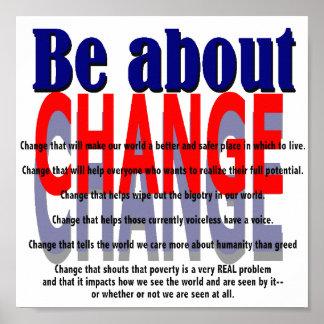 Esté sobre el poster del cambio