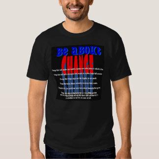 Esté sobre la camiseta del cambio (el negro) playeras