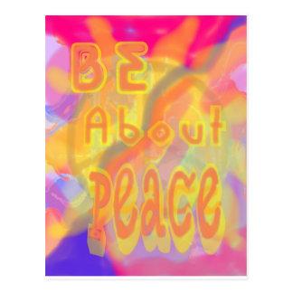 Esté sobre la postal de la paz