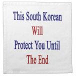 Este sudcoreano le protegerá hasta el extremo servilletas imprimidas
