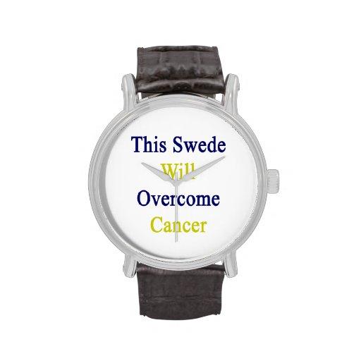 Este sueco superará al cáncer relojes de pulsera