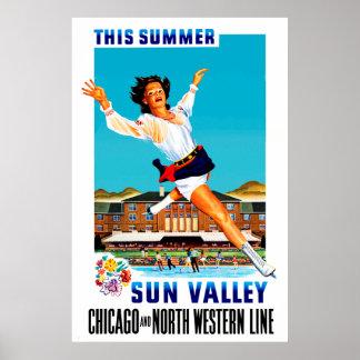 Este ~ Sun Valley del verano Poster