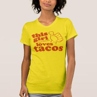 Este Tacos de los amores del individuo o del chica Tee Shirts