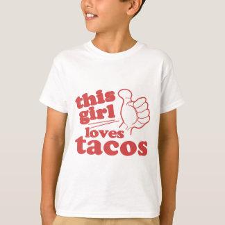 Este Tacos de los amores del individuo o del chica Playera