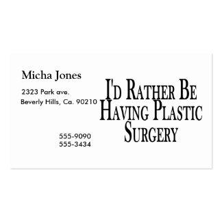 Esté teniendo bastante cirugía plástica tarjetas de visita