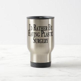 Esté teniendo bastante cirugía plástica taza de viaje de acero inoxidable