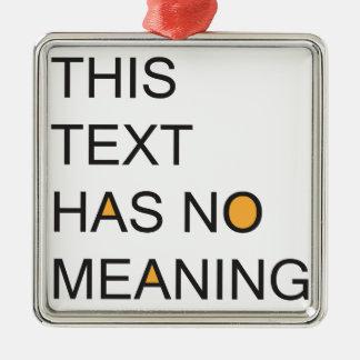 este texto no tiene ningún meanig. adorno cuadrado plateado