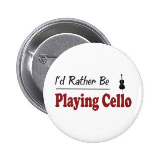 Esté tocando bastante el violoncelo pin redondo de 2 pulgadas