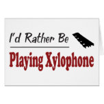 Esté tocando bastante el xilófono tarjetón