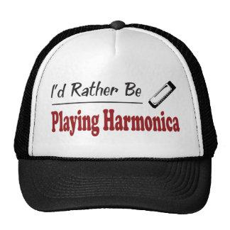 Esté tocando bastante la armónica gorros