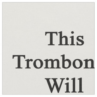 Este trombón oscilará su mundo telas