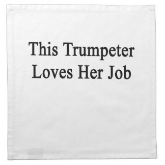 Este trompetista ama su trabajo servilletas de papel
