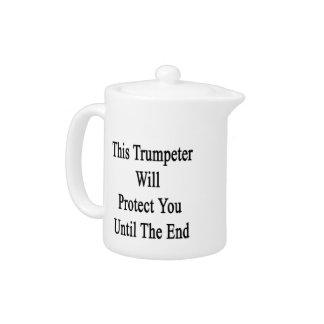 Este trompetista le protegerá hasta el extremo