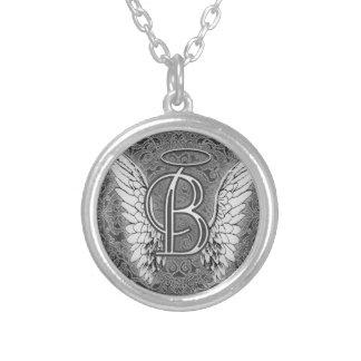 Este último inicial del alfabeto B del ángel se va Colgante Redondo