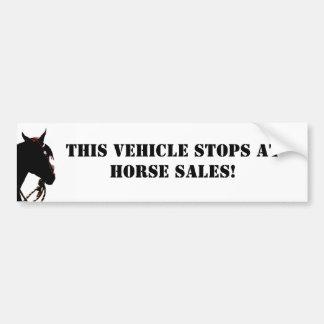 ¡Este vehículo para en las ventas del caballo! Peg Pegatina Para Auto